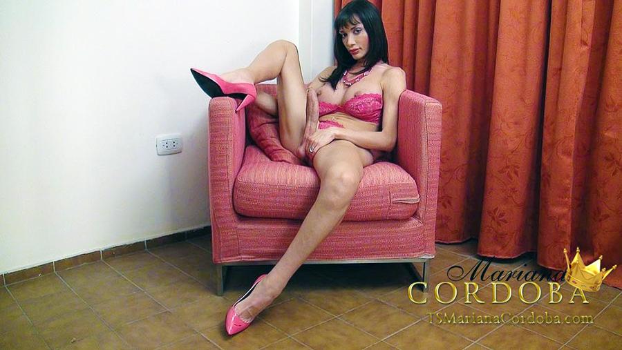 Spread trans girl legs